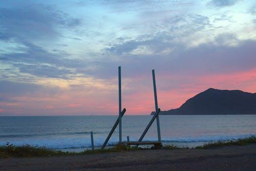 ビーチ, 山岳, 日没, 空の無料の写真素材