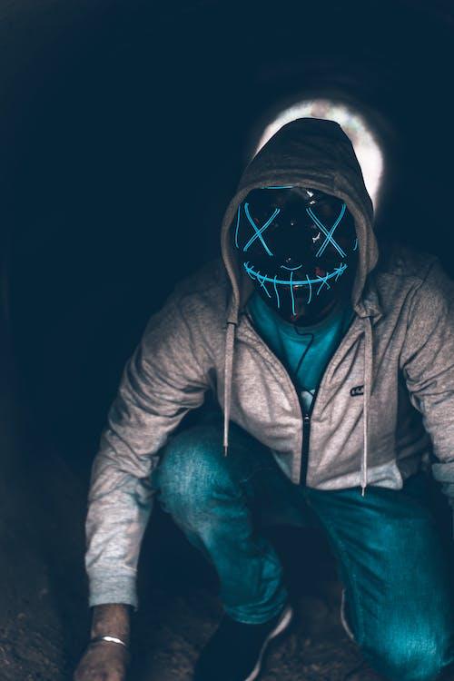 Photos gratuites de effrayant, horreur, masque, masque bleu