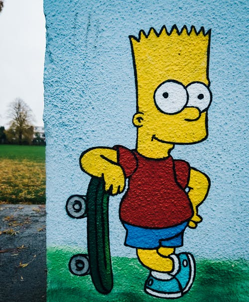 Free stock photo of bright, graffiti, park, simpsons