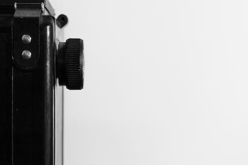 Základová fotografie zdarma na téma abstraktní, černobílá, pohled, vintage fotoaparát