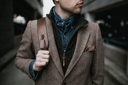 Photo Of Man Wearing Brown Coat