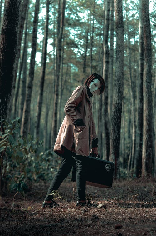 Бесплатное стоковое фото с деревья, жуткий, костюм, лес