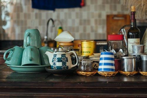 주방, 찻잔, 컵, 테이블의 무료 스톡 사진