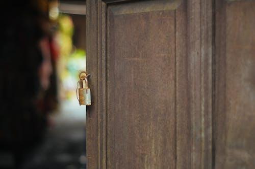 목조, 목조 문, 문, 자물쇠의 무료 스톡 사진