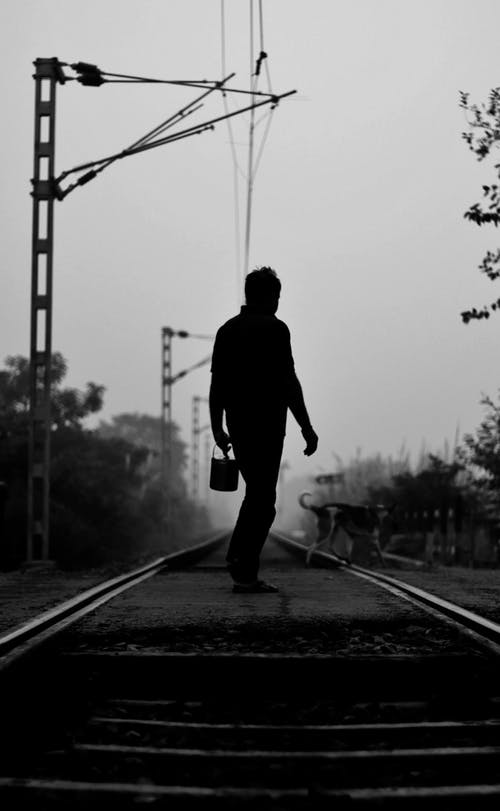 Free stock photo of indian, indian boy, leading, railway