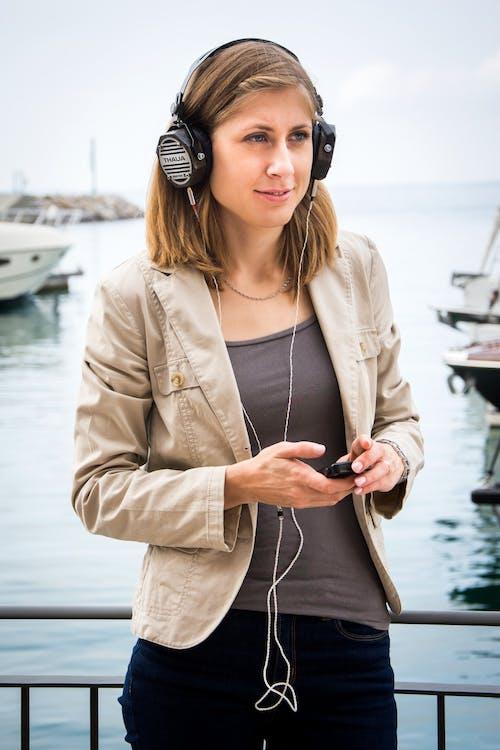 audio, barcă, cască