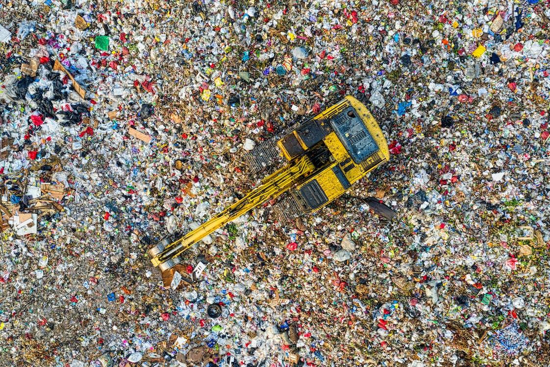 Bird's Eye View Of Landfill During Daytime