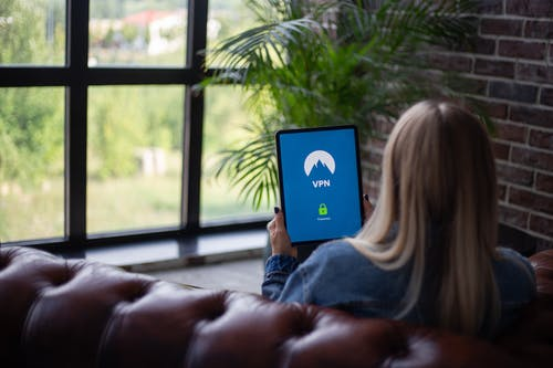 Free stock photo of best tablet, blond, couch, device