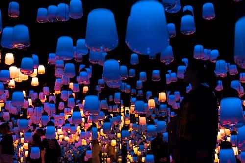 凉爽的光, 燈籠 的 免费素材照片