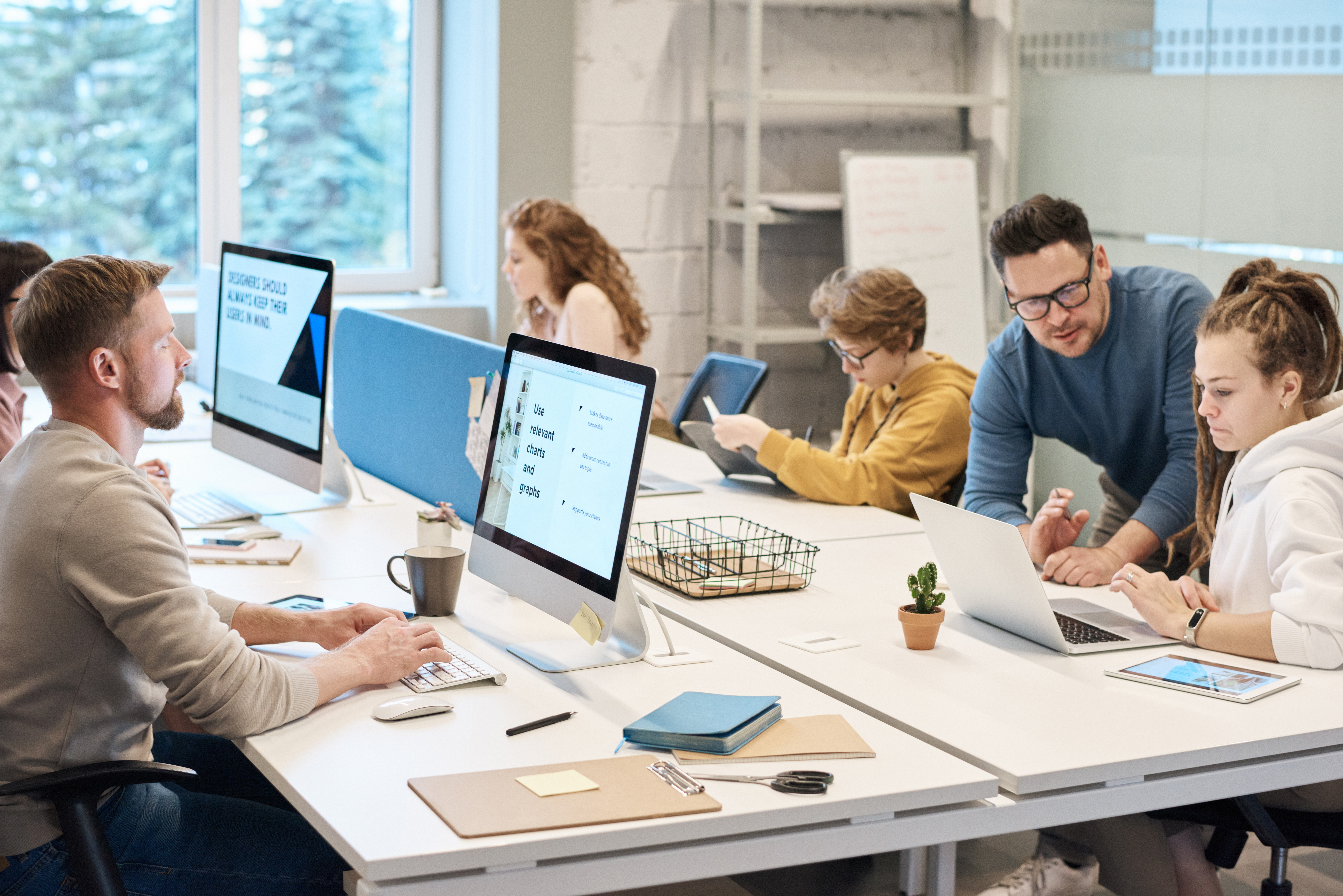 People Working in front of the Computer · Free Stock Photo