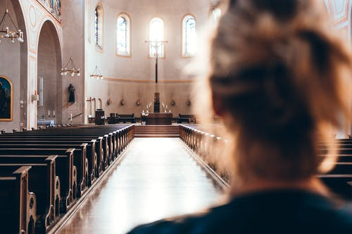 Free stock photo of altar, church, Empty Church, girl