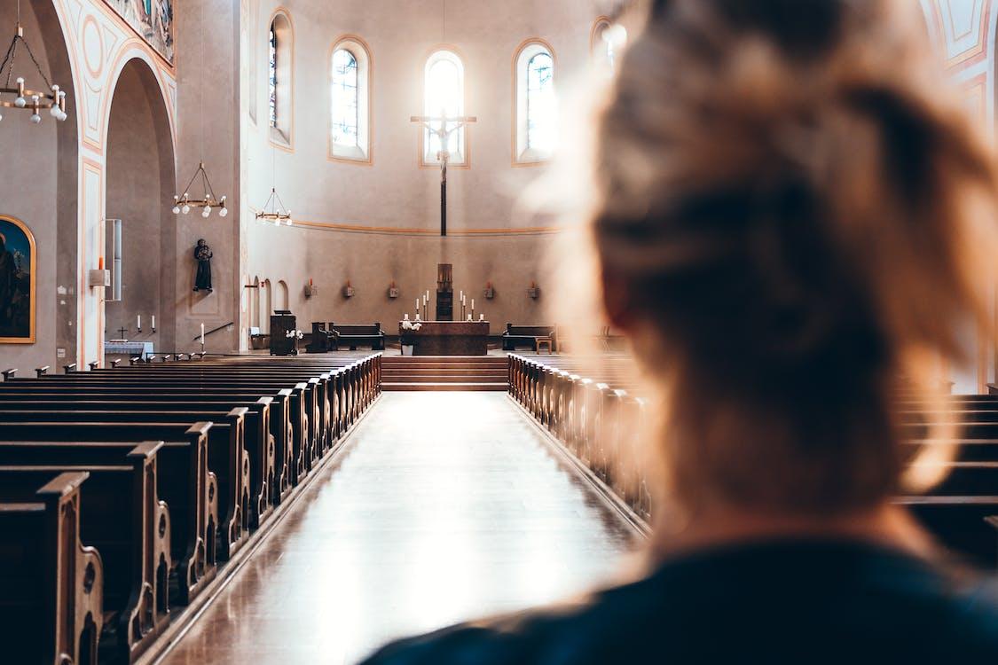 altar, church, Empty Church