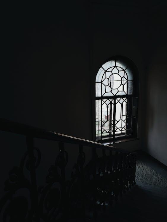 arkitektur, bakbelysning, dør