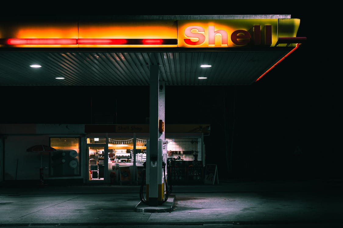 Shallow Focus Photo of Shell Gas Station