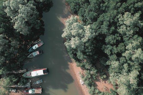 Gratis arkivbilde med båter, dagtid, drone, drone kamera