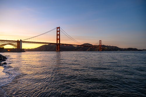 Golden Gate Bridge over Body of Water