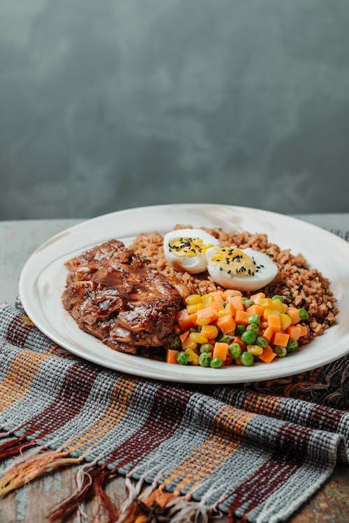 Fotos de stock gratuitas de almuerzo, bol, carne, cena