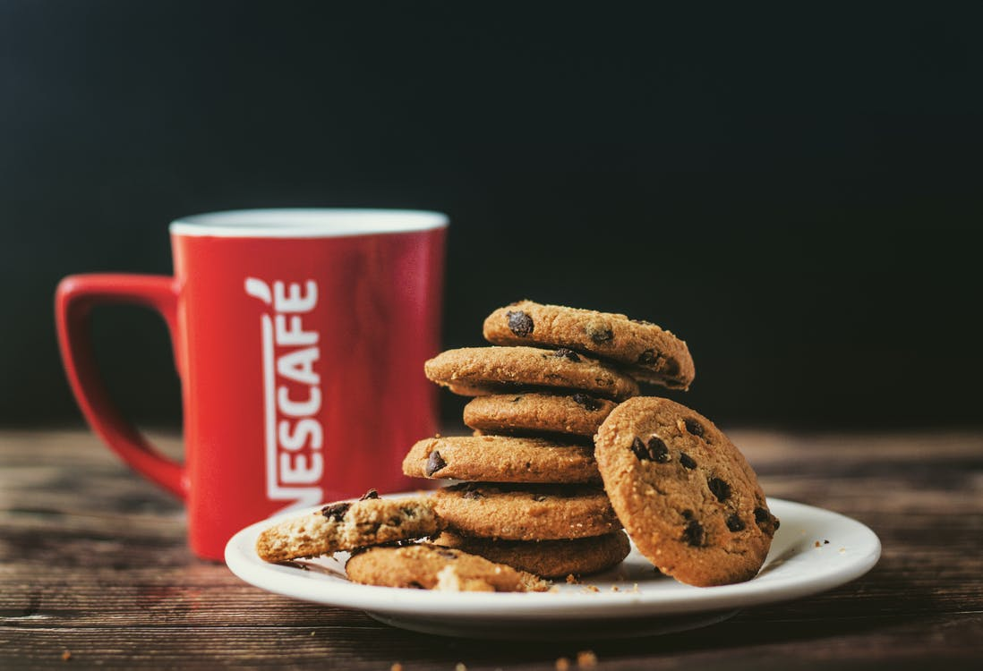 Cookies and Hot Drink for Breakfast