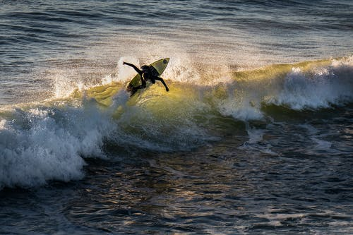 Photo of Person Surfboarding