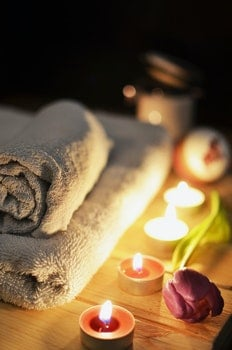 Free stock photo of romantic, bathroom, bath, candlelight