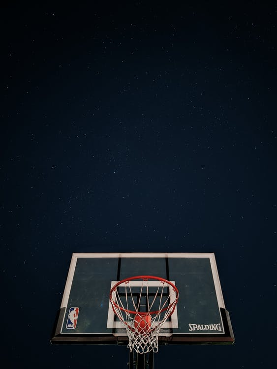 White and Red Basketball System