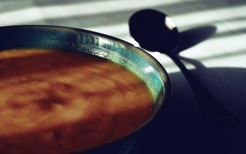 健康食品, 健康飲食, 南瓜湯, 桌子 的 免費圖庫相片
