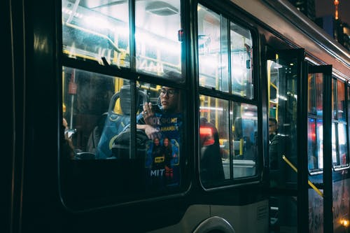 Gratis lagerfoto af bus, by, downtown