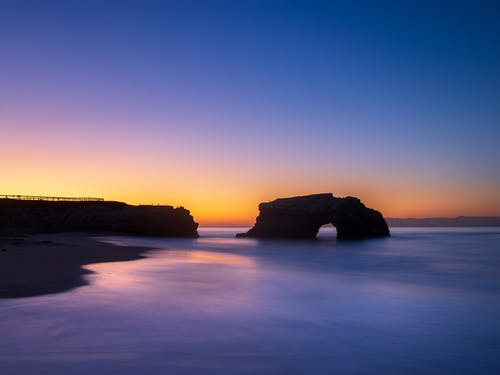 Free stock photo of beach, blue hour, california, colors