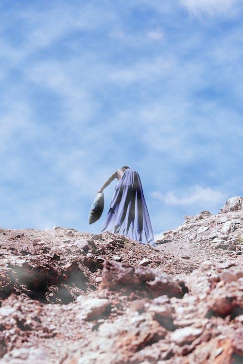 błękitne niebo, dzień, erozja
