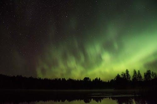 Foto d'estoc gratuïta de aurora, aurora boreal, aurore boréale, exposició llarga