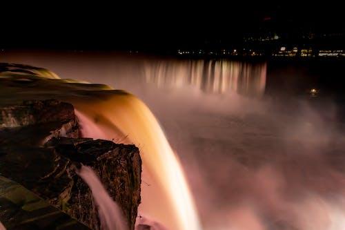 Immagine gratuita di canada, cascate del niagara, lunga durata, notte