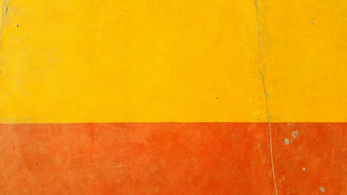 Orange and Yellow Painted Wall