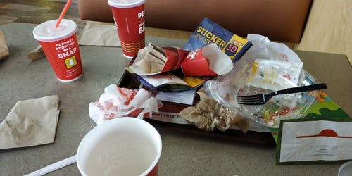 Free stock photo of fast food trash, finished food, trash