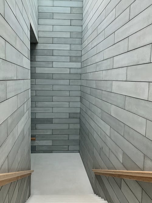 White and Gray Tiled Floor