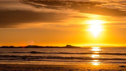 Photos gratuites de baie de table, coucher de soleil, coucher de soleil sur la plage, grande baie