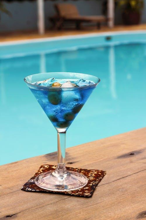 alcool, bleu, boire