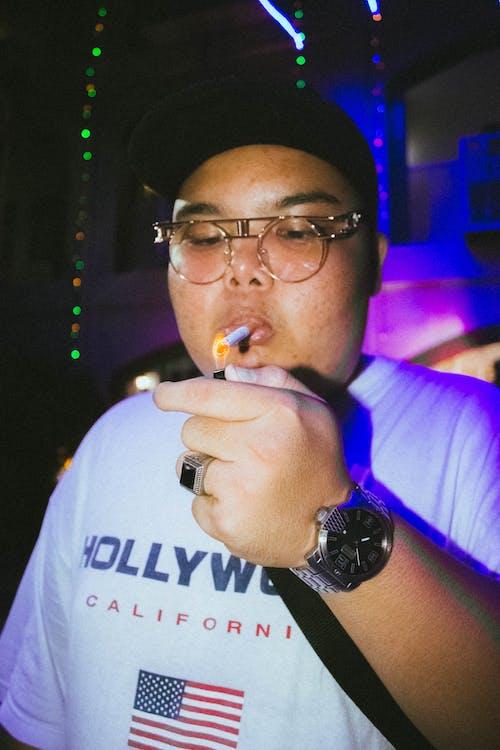Man Smoking Photograph