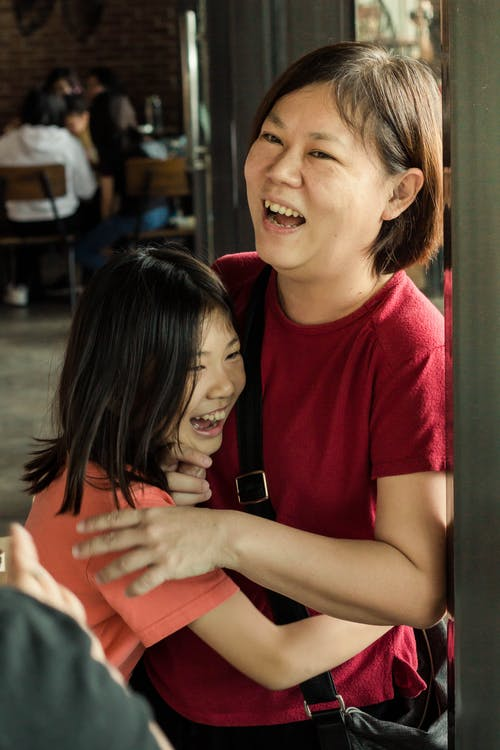 Free stock photo of family, happy, hugging, mother and daughter