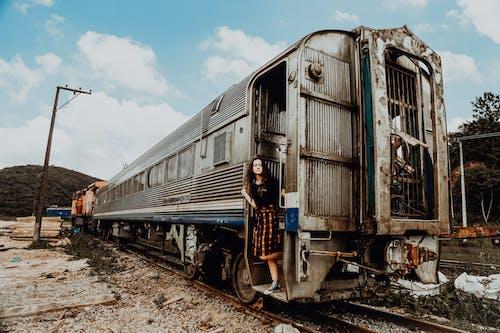 Imagine de stoc gratuită din abandonat, antrena, balustradă, căi ferate