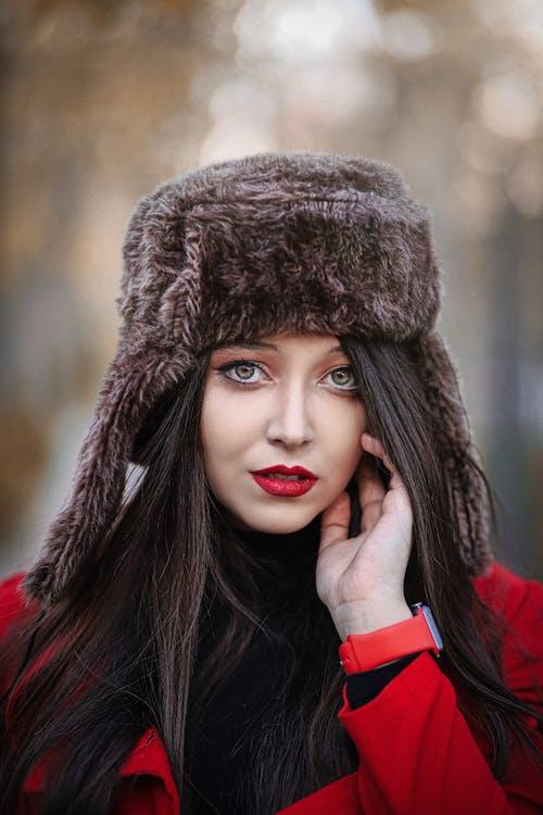 85mm, barret de pell de l'hivern, bellesa