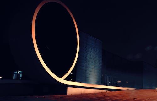 gece, mimari içeren Ücretsiz stok fotoğraf