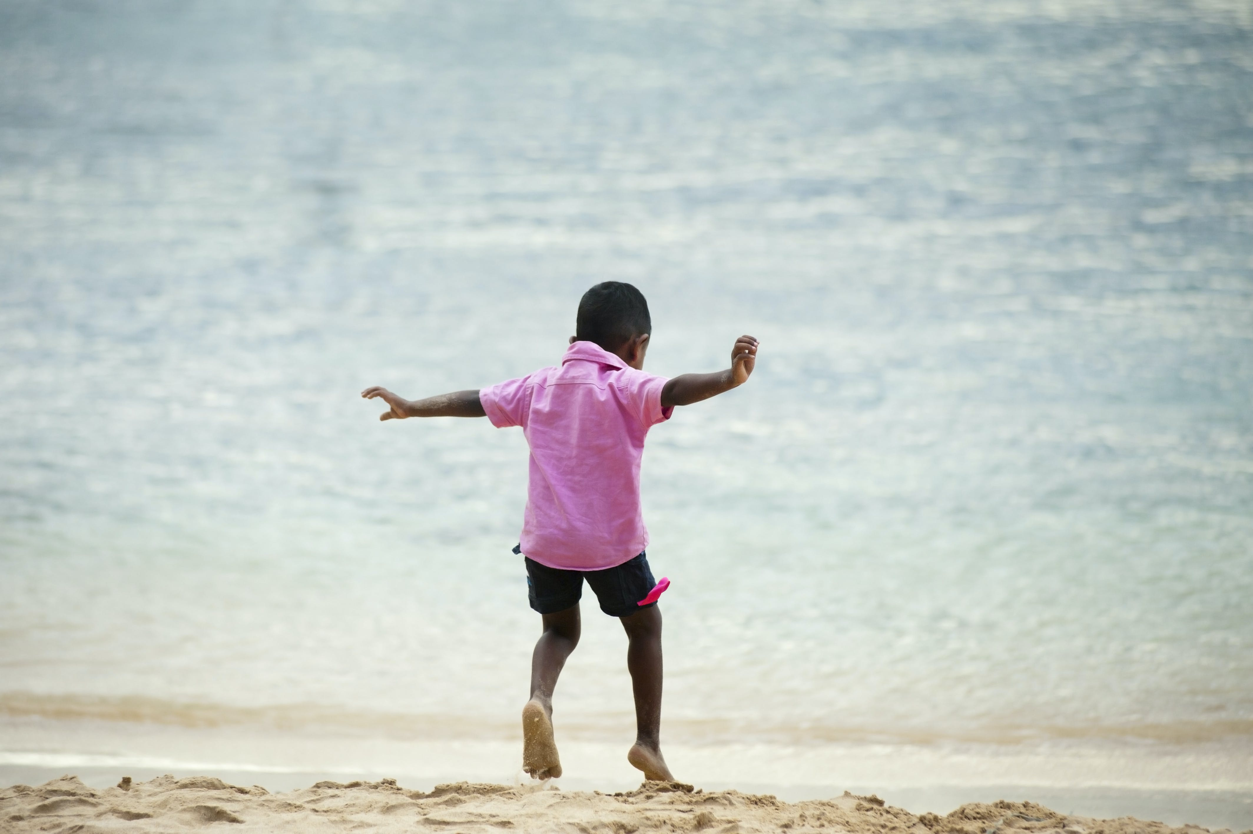 action, beach, boy