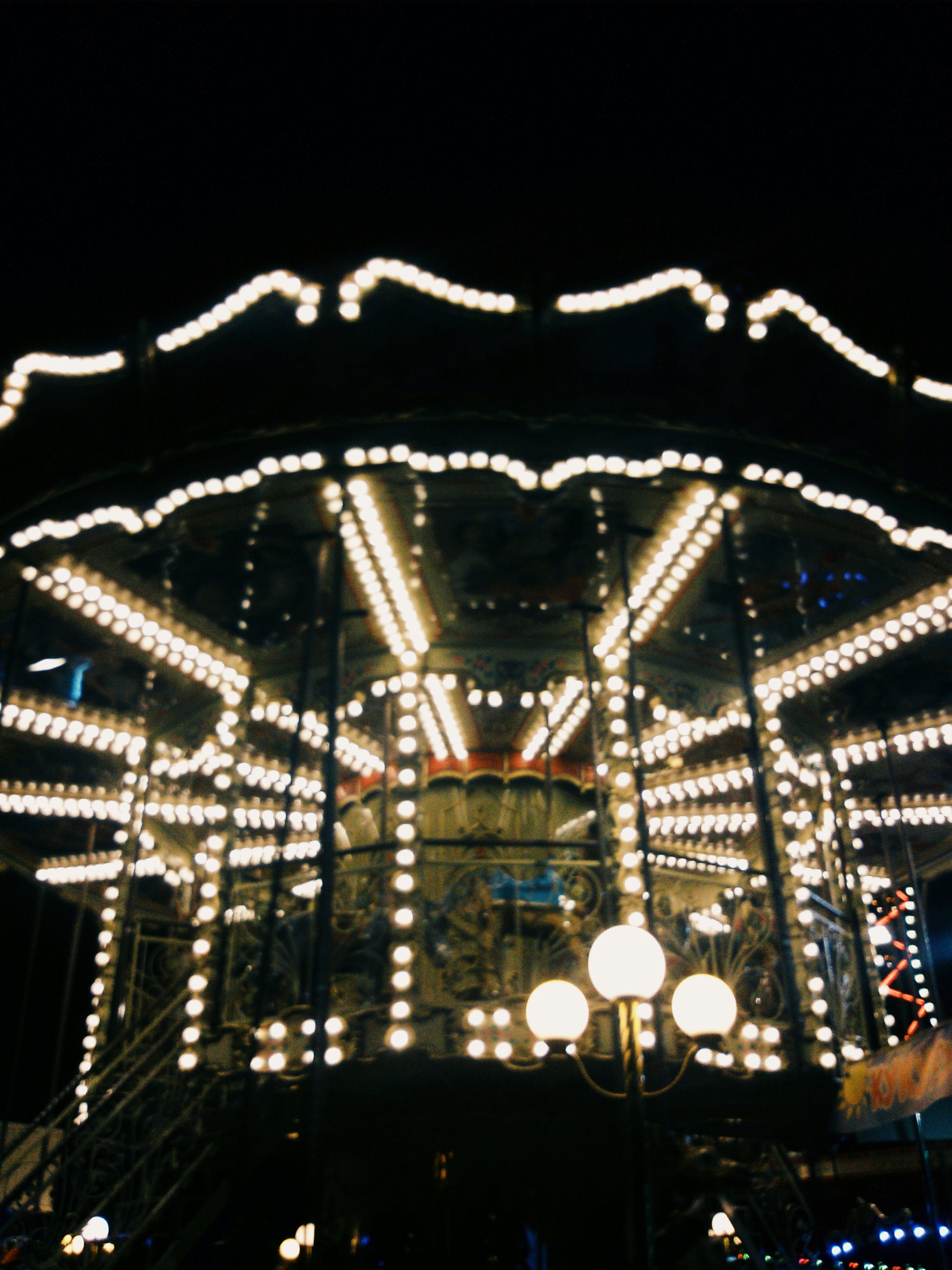 Free stock photo of #carousel, #evening, #latern, #light