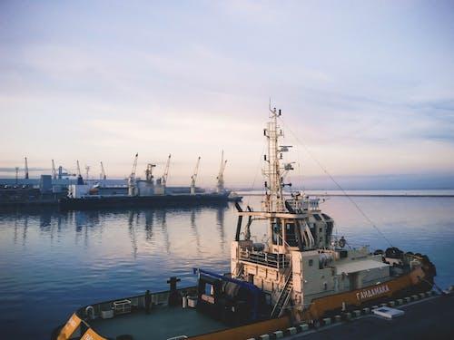#deniz, #gemi, #gökyüzü, #liman içeren Ücretsiz stok fotoğraf
