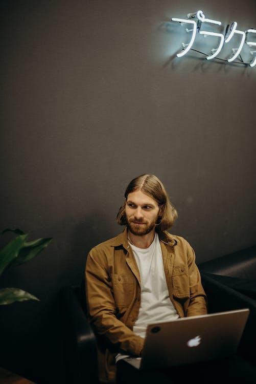 computer, digitaler nomade, entwickler