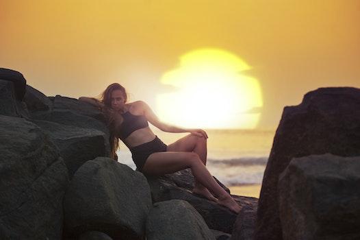 Kostenloses Stock Foto zu meer, dämmerung, landschaft, sonnenuntergang