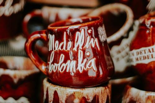 カップ, コーヒーカップ, コロンビア, セラミックカップの無料の写真素材