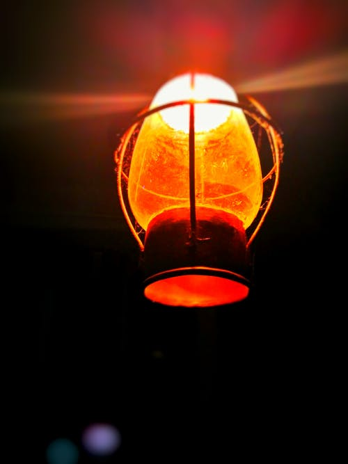 Close-up of Illuminated Lantern at Night