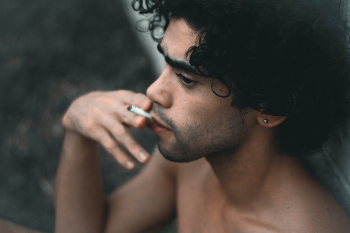 вираз обличчя, гарний, дим