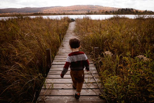 Základová fotografie zdarma na téma chlapec, chodník, chůze, dítě